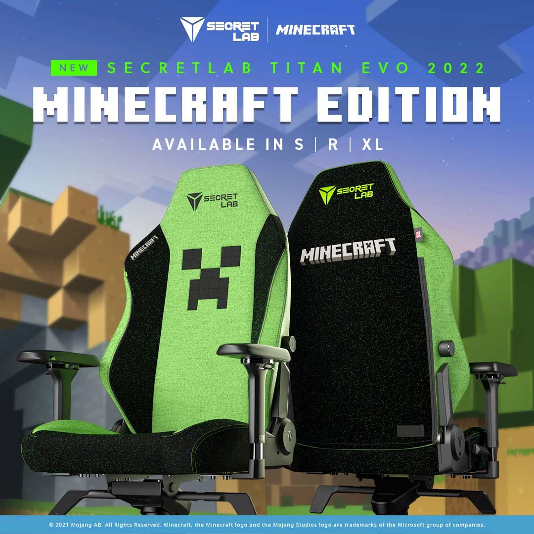 Secretlab TITAN Evo 2022 Minecraft Edition