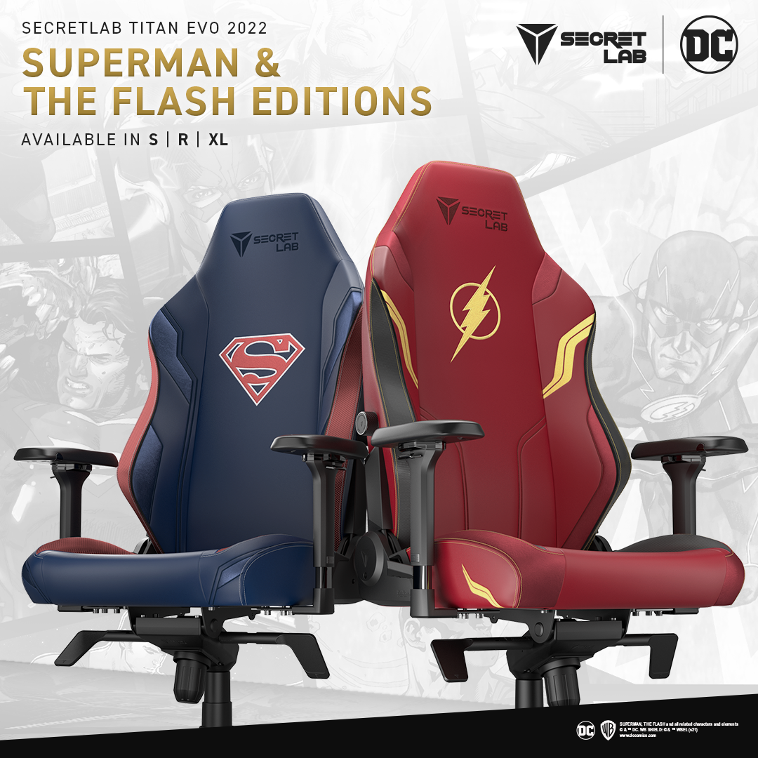 Secretlab DC Collection Superman and The Flash Editions